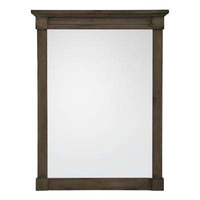 Rosecliff 24 in. x 32 in. Framed Wall Mirror in Distressed Grey
