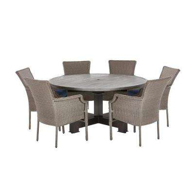 gray patio dining sets patio dining furniture the home depot rh homedepot com