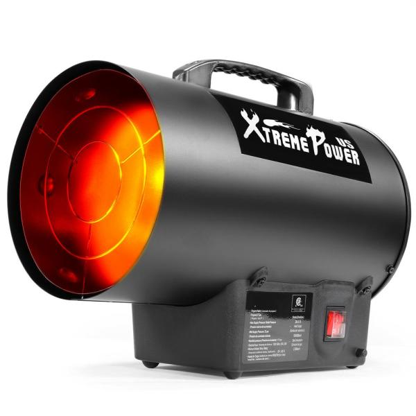 Xtremepowerus 50 000 Btu Forced Air Propane Space Heater W 1500 Square Feet Heat Area 96956 The Home Depot