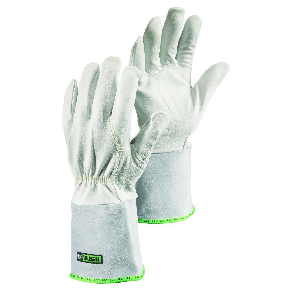 Sun Size 11 XX-Large Mig / Tig Welding Glove With Flexible Goatskin 4 in. Cowhide Gauntlet in Grey