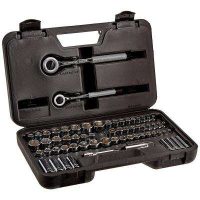 1/4 and 3/8 in. Drive Socket Set (64-Piece)