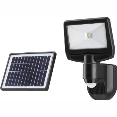 900 Lumen Motion Activated Solar Security Light - Integrated LED Flood Light, Waterproof, Dusk to Dawn Photocell Sensor