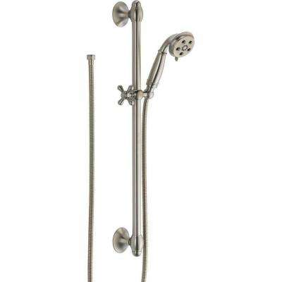 3-Spray 2.0 GPM Hand Shower with Slide Bar in Stainless Featuring H2Okinetic