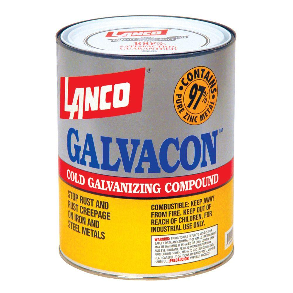Lanco Galvacon 1 Qt  Oil-Based Gray Cold Galvanizing Compound