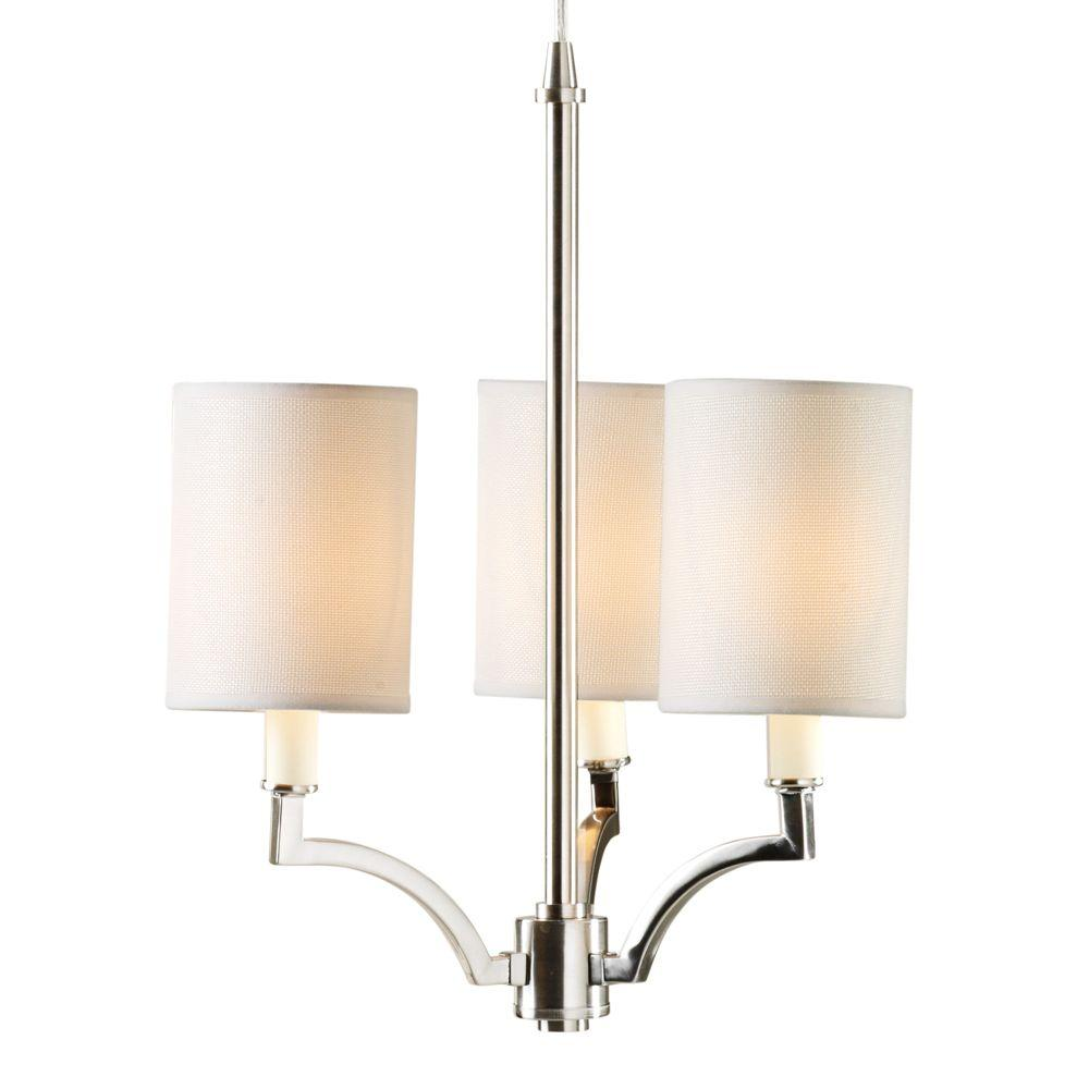 Home Decorators Collection Claire L 15 In 3 Light Brushed