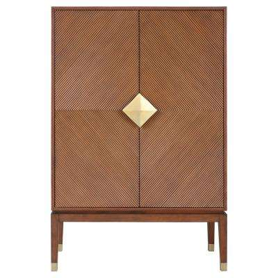 Accra Tall Antique Brass Cabinet