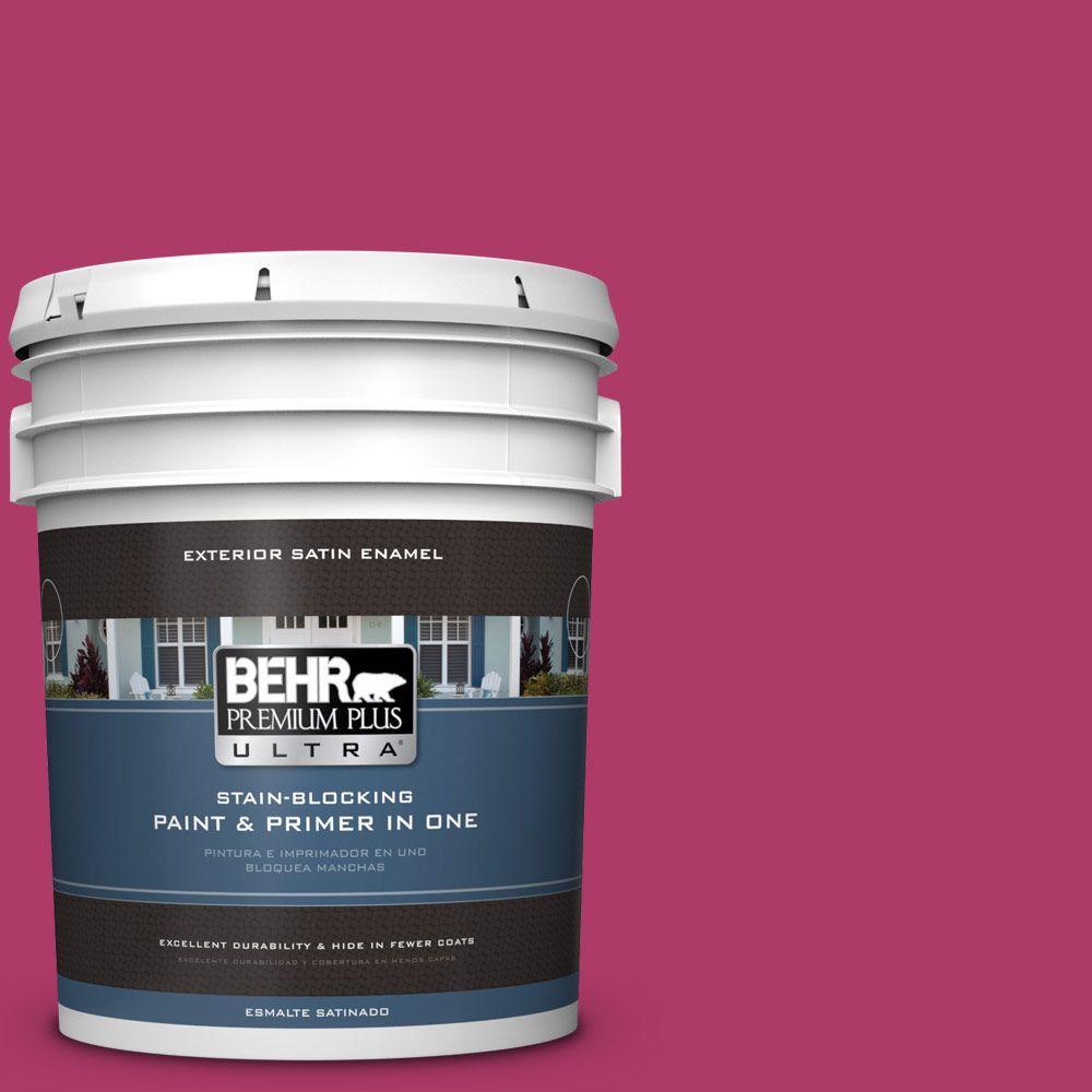 5 gal. #HDC-SM16-04 Bing Cherry Pie Satin Enamel Exterior Paint