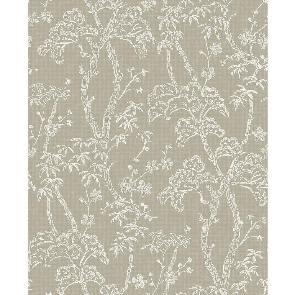A-Street 56.4 sq. ft. Bonsai Tan Tree Wallpaper 2764-24353
