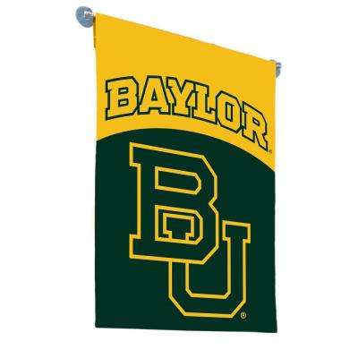 NCAA 1 ft. x 1.5 ft. Baylor Bears 2-sided Garden Flag with 4 ft. Metal Flag Stand #11213