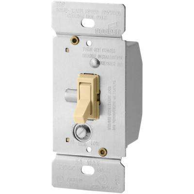 5 Amp Single-Pole Fully Variable Fan Speed Control Rocker Switch with Non-Preset, Ivory