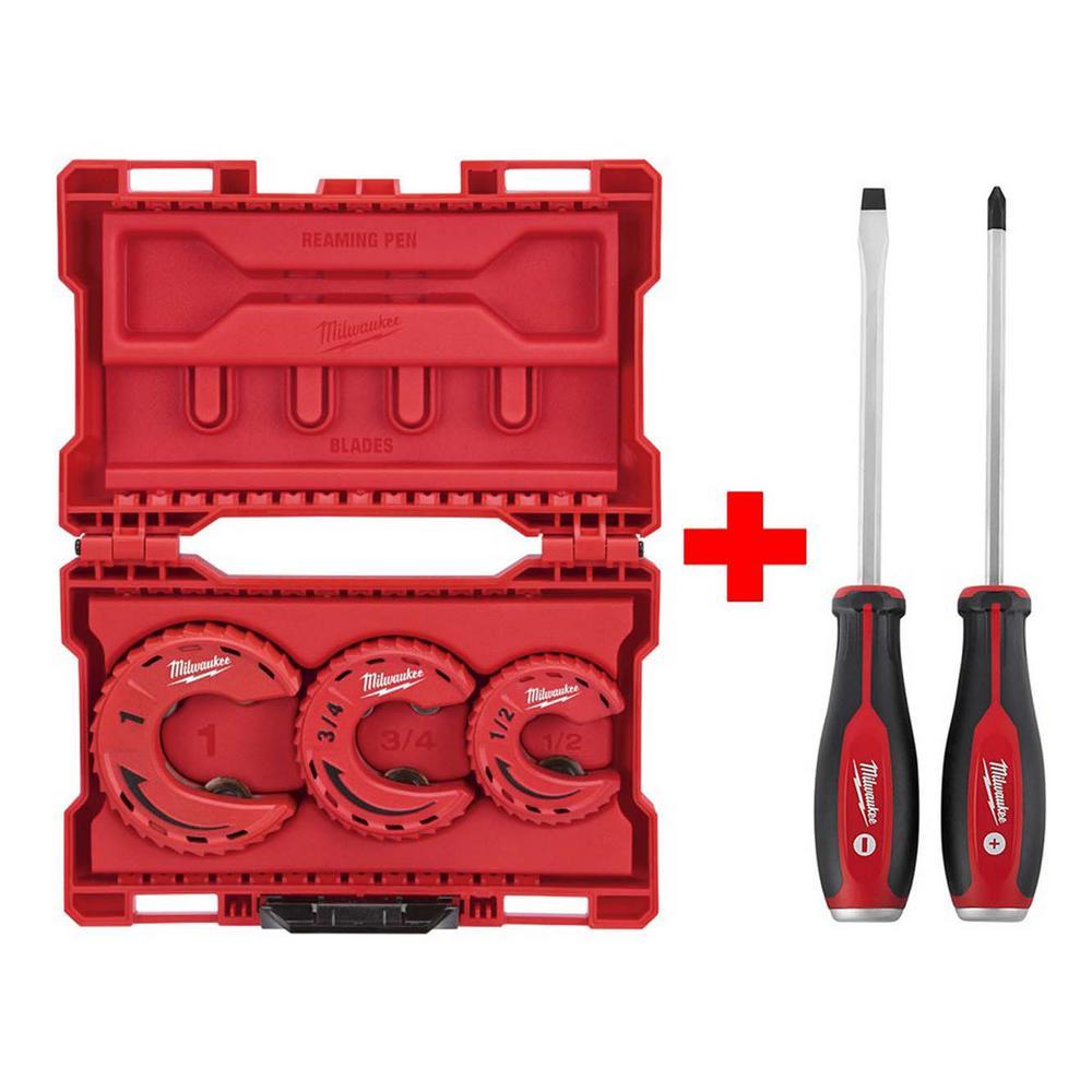 Close Quarters Tubing Cutter Set (3-Piece) W/ Demo Screwdriver Drivers (2-Piece)