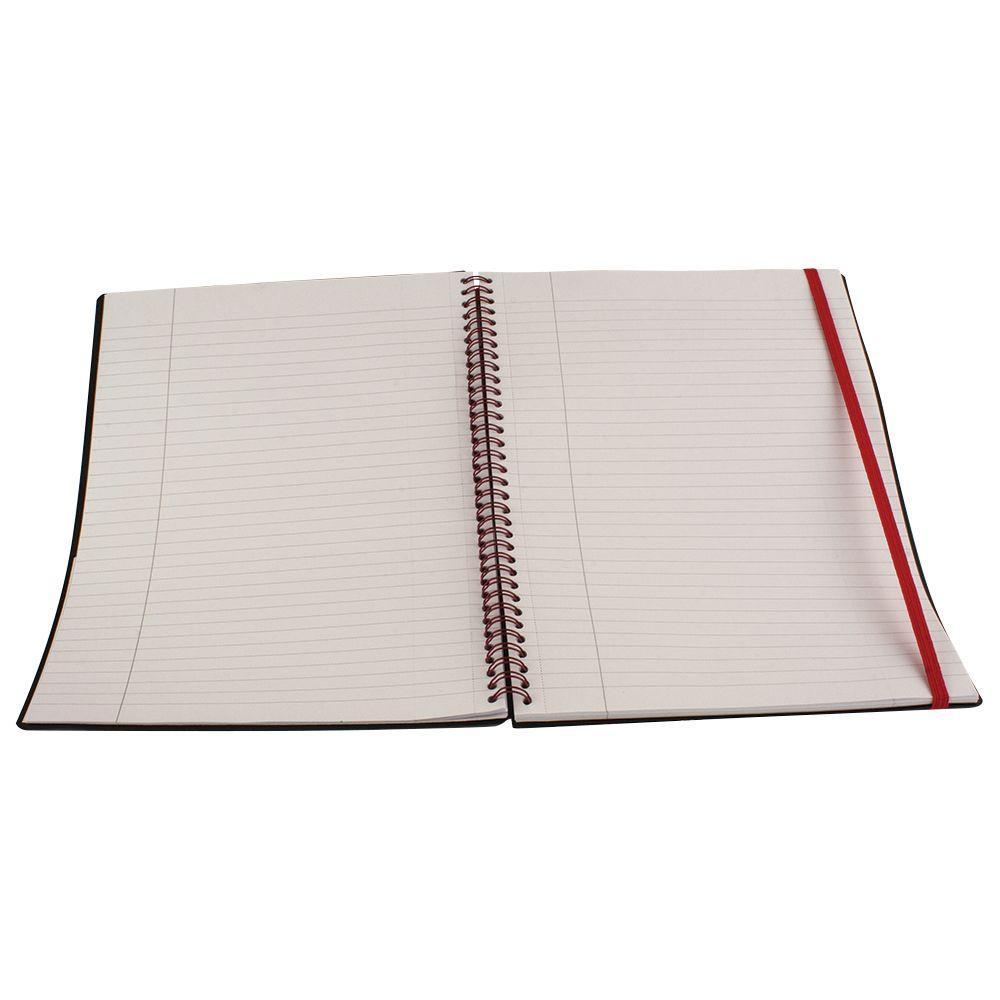 8-1/4 in. x 11-3/4 in. Black and Orange Spiral Bound Notebook