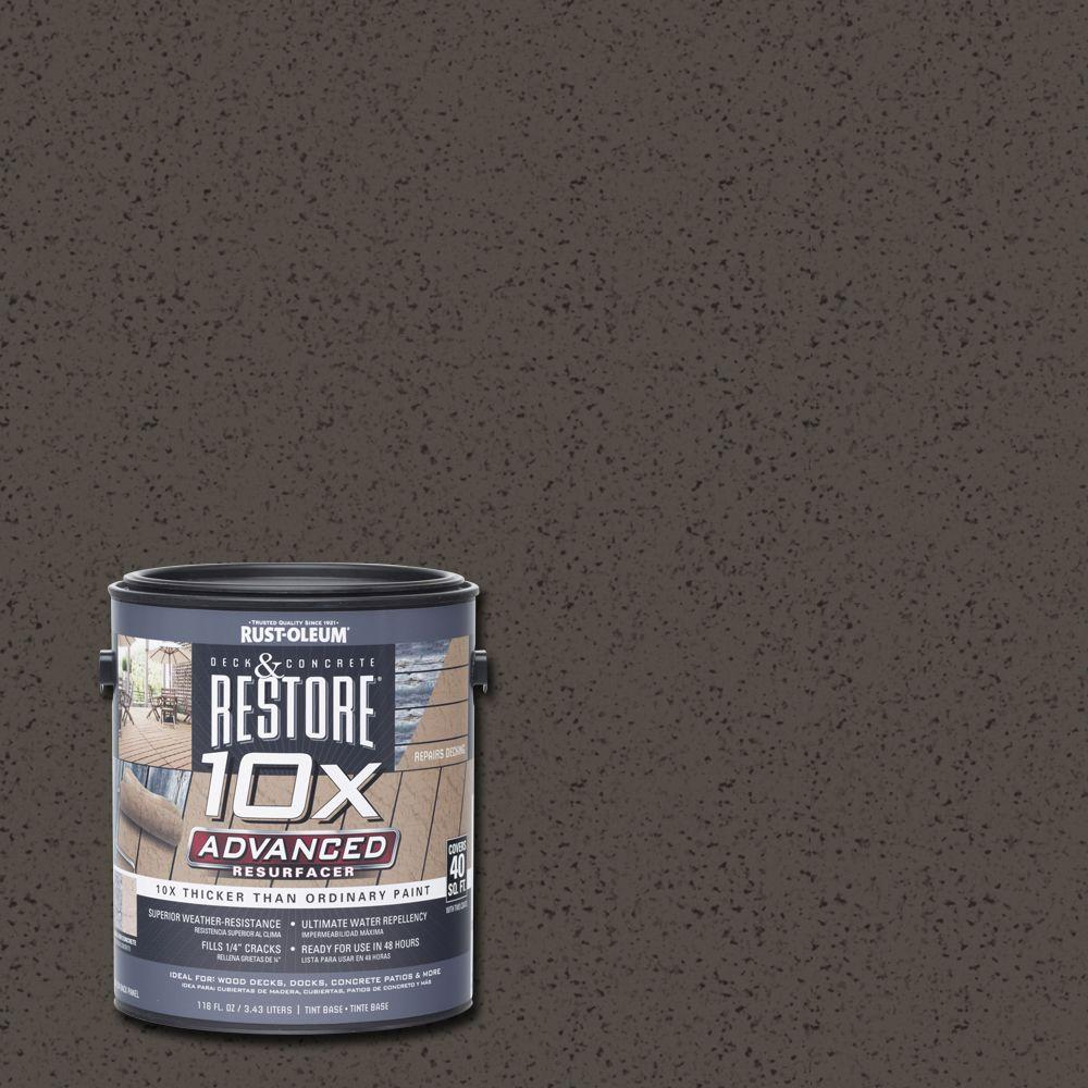 1 gal. 10X Advanced Autumn Brown Deck and Concrete Resurfacer