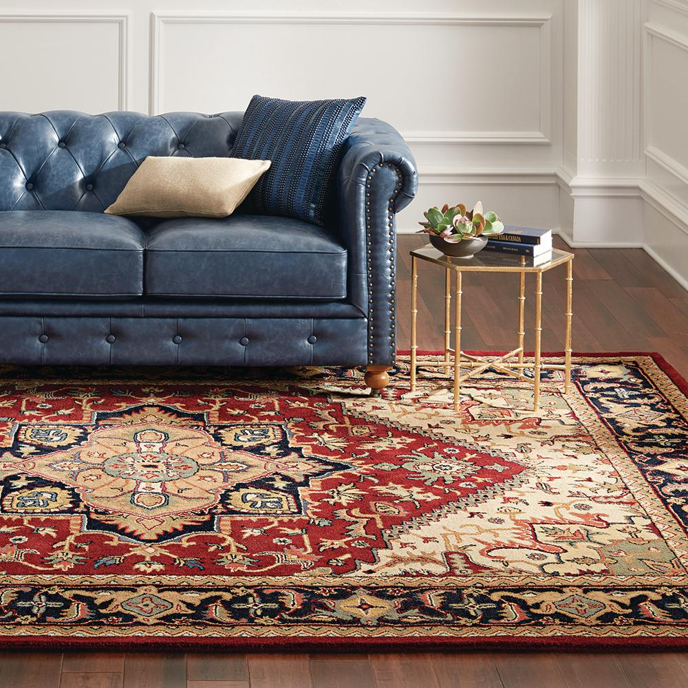 Home Decorators Collection Gordon Blue Leather Loveseat 0849500310 The Home  Depot
