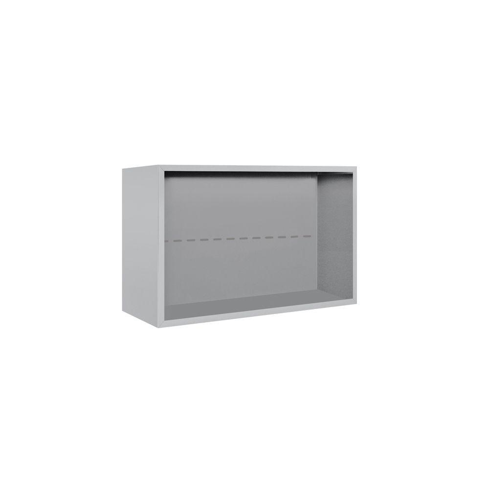 Salsbury Industries 3800 Series 32.25 in. W x 21.125 in. H Surface Mounted Enclosure for Salsbury 3705 Double Column Unit in Aluminum