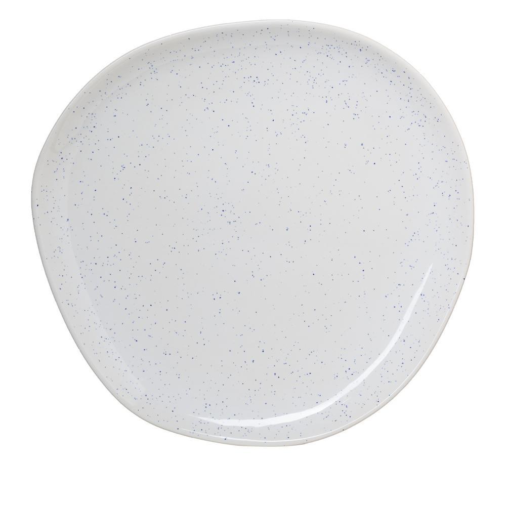 14.5 in. Milk Street White Stoneware Organic Round Serving Platter with