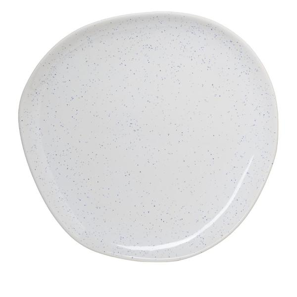Amici Home 14.5 in. Milk Street White Stoneware Organic Round Serving