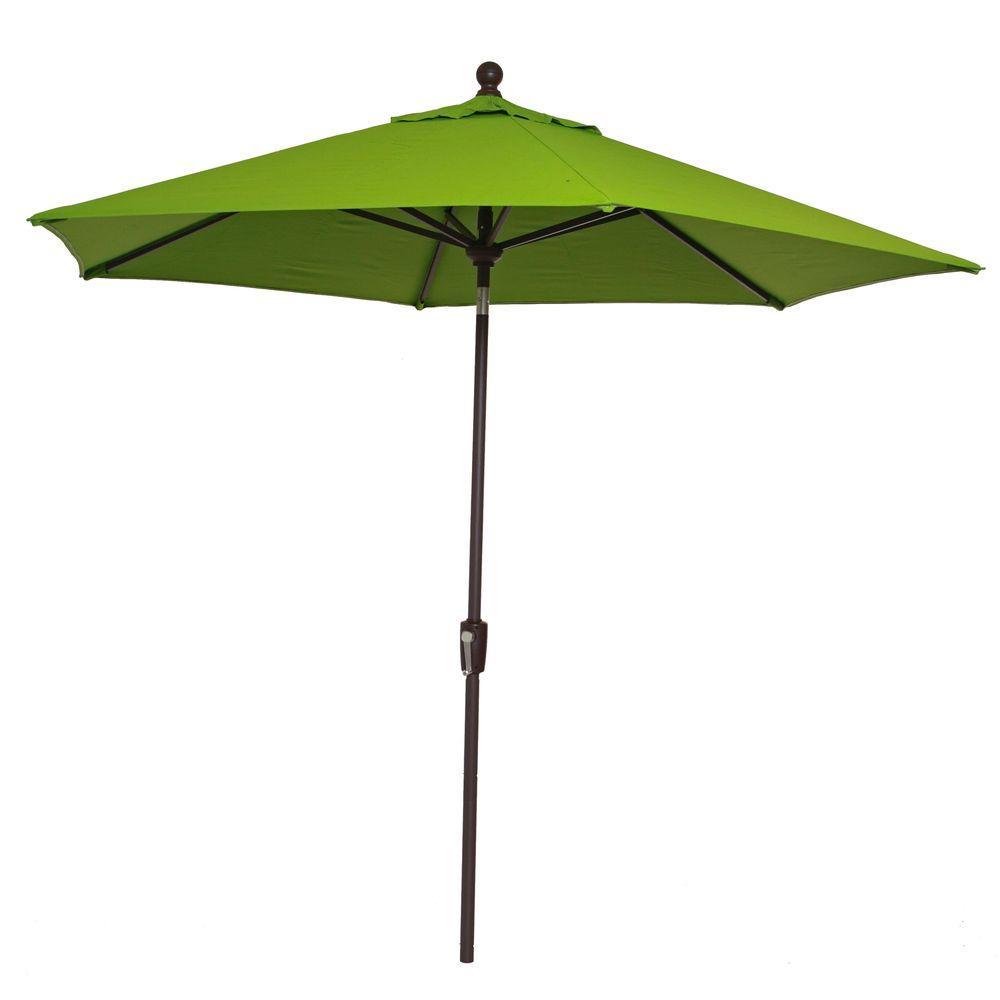 RST Brands Courtyard 9 ft. Patio Umbrella in Ginkgo Green