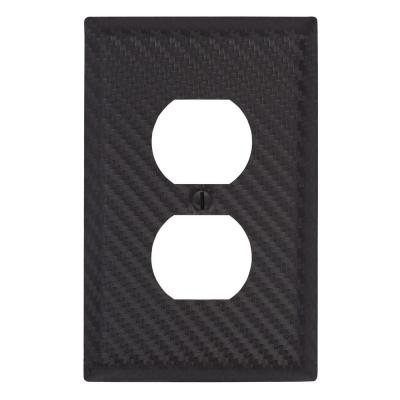 Branston 1 Gang Duplex Steel Wall Plate - Black