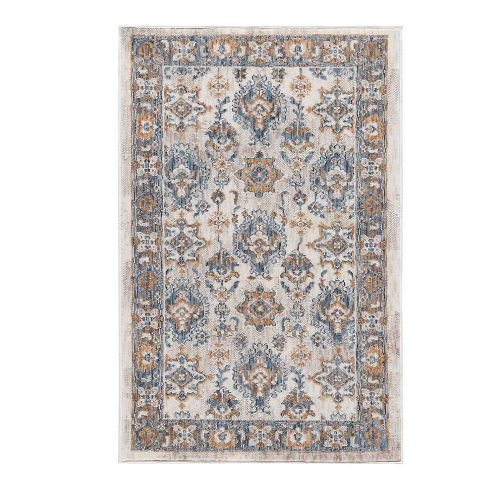 tayse rugs peyton navy 2 ft. x 3 ft. accent rug-ptn1707 2x3 - the