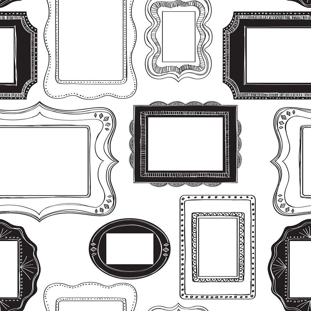 NuWallpaper Multi Color Photo Opp Frames Wallpaper-NU1661 - The Home ...