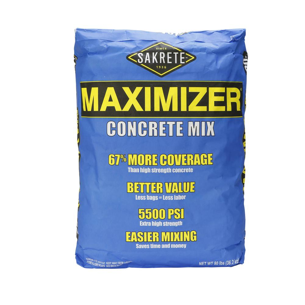SAKRETE 80 lb. Maximizer Concrete Mix