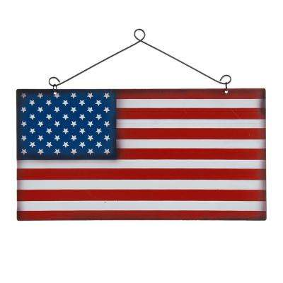 8.5 in. H Iron National Flag Wall Sign