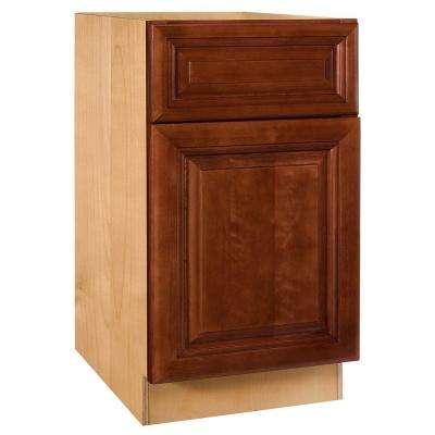 Lyndhurst Assembled 18x34.5x24 in. Base Cabinet with Single Door in Cabernet