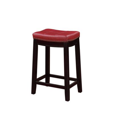 Claridge 26 in. Red Cushioned Counter Stool