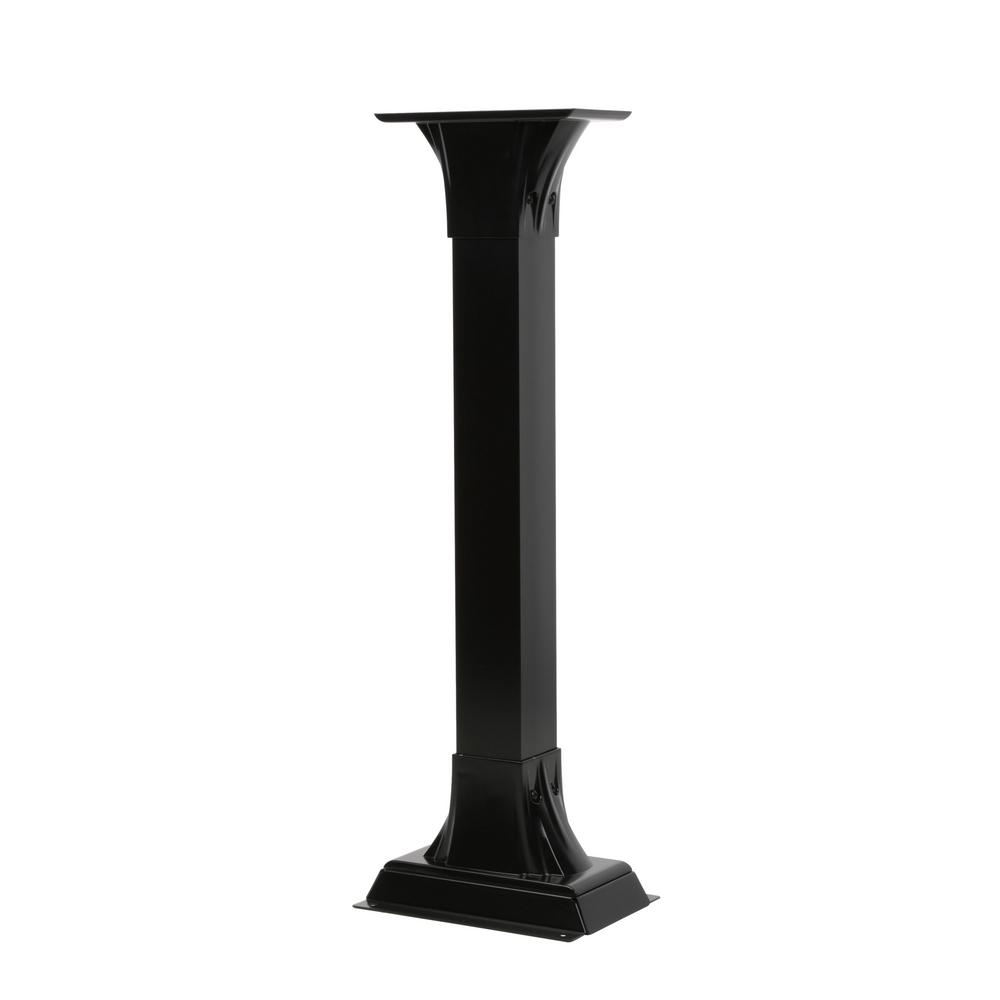 Callaway Aluminum Adjustable Mailbox Post in Black