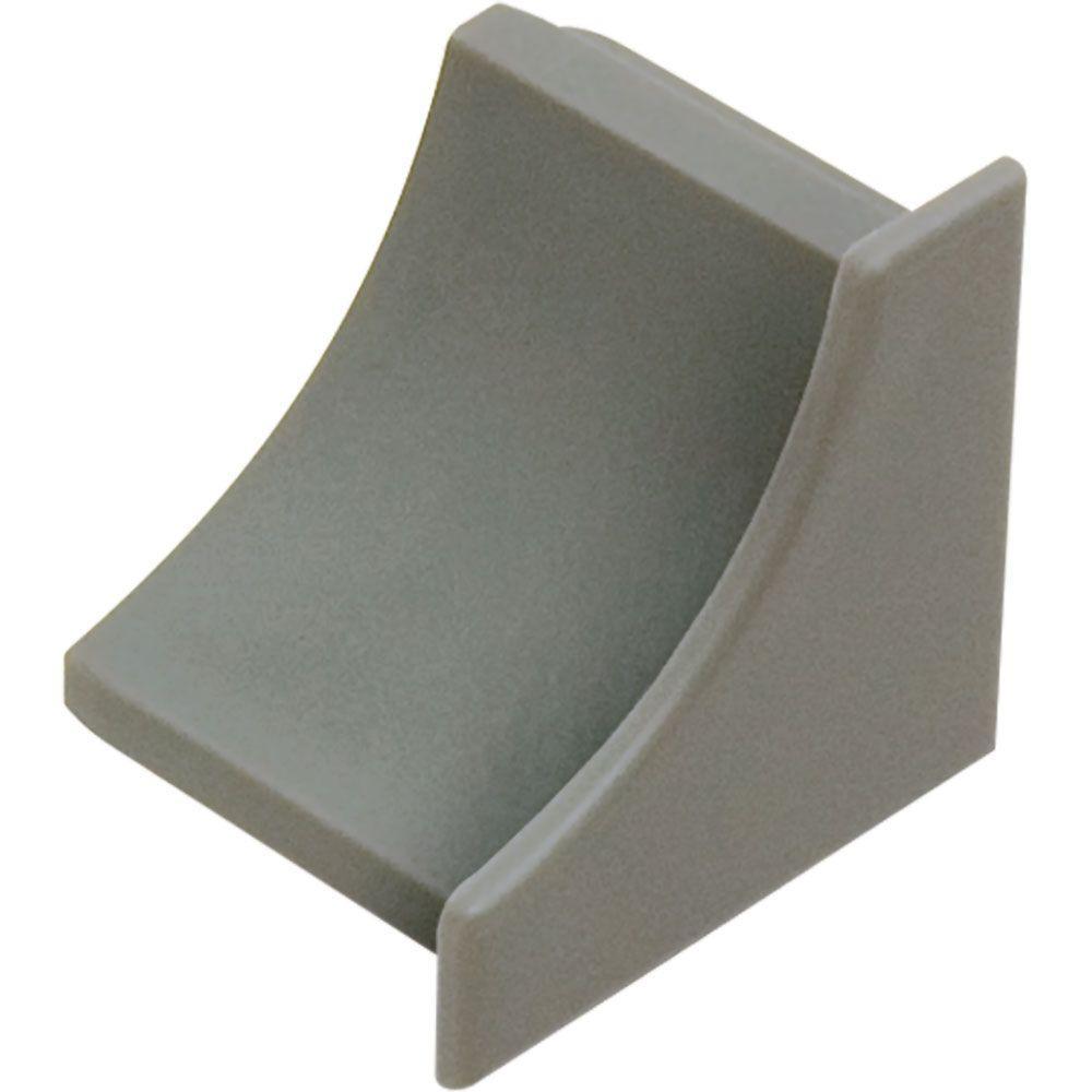 Dilex-HKW Grey 1 in. x 1 in. PVC End Cap