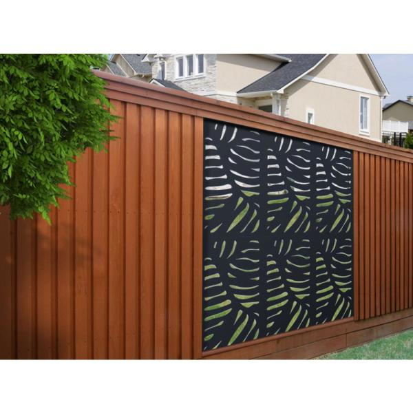 Modinex 4 Ft X 2 Ft Charcoal Gray Modinex Decorative Composite Fence Panel In The Cabo Design Usamod1c The Home Depot