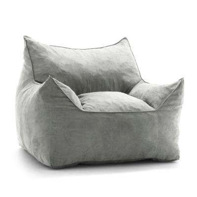 Imperial Lounger Shredded Ahhsome Foam Cement Comfort Suede Plus Bean Bag