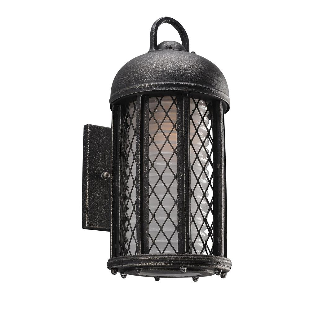 Troy Lighting Signal Hill Aged Silver Outdoor Wall Lantern Sconce