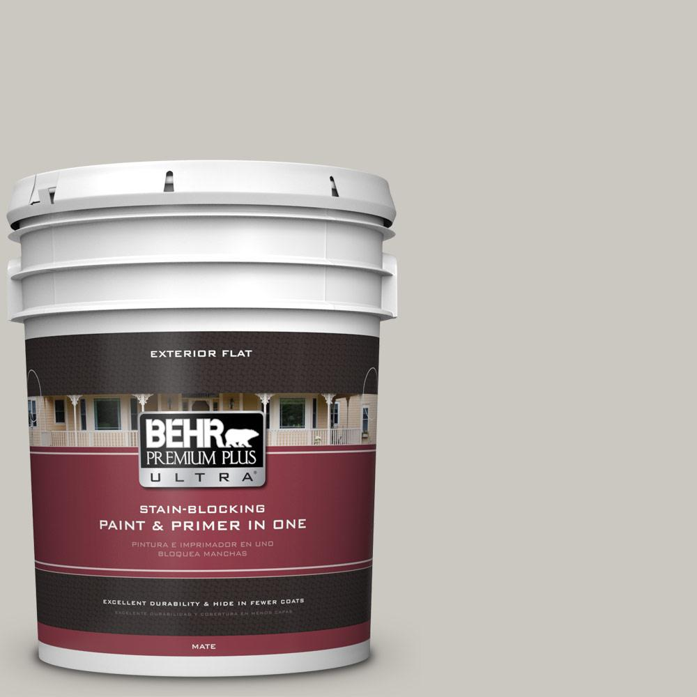 5 gal. #PPU24-12 Whitewash Oak Flat Exterior Paint