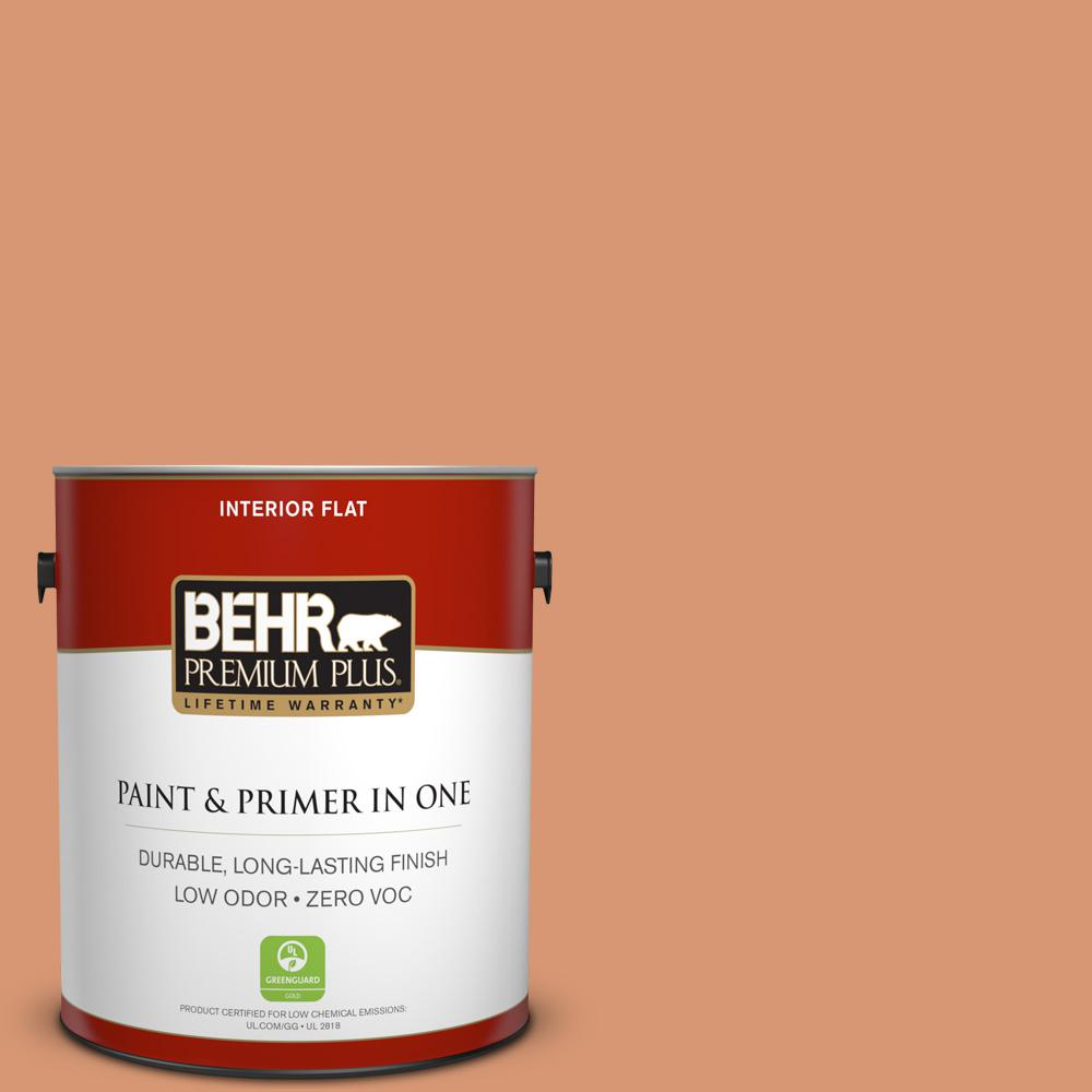 BEHR Premium Plus 1-gal. #M210-5 Candied Yams Flat Interior Paint