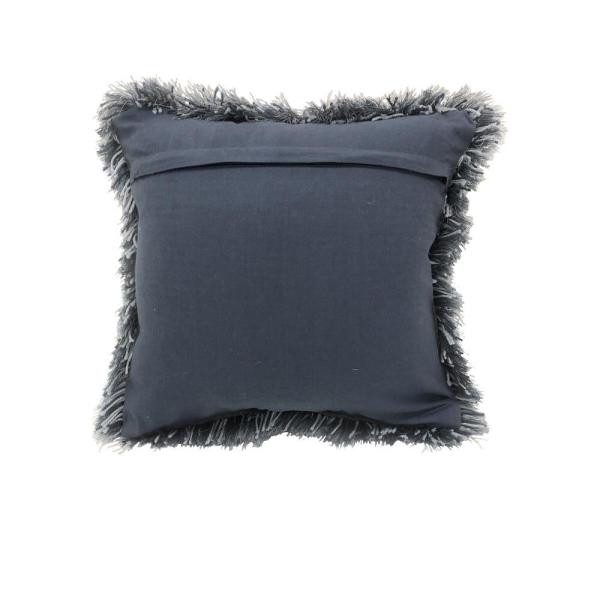 Lr Home Quinto Blue Shag Solid Fluffy Poly Fill 18 In X 18 In Throw Pillow Pillo05342bluiipl The Home Depot