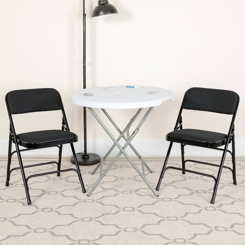 Flash Furniture Hercules Series Curved Triple Braced & Double Hinged Black