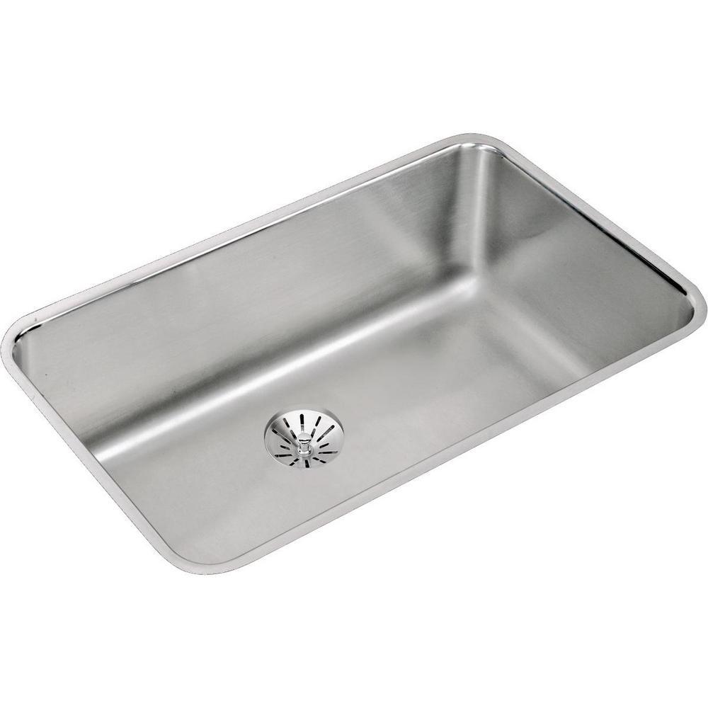 Lustertone Undermount Stainless Steel 31 in. Single Bowl Kitchen Sink