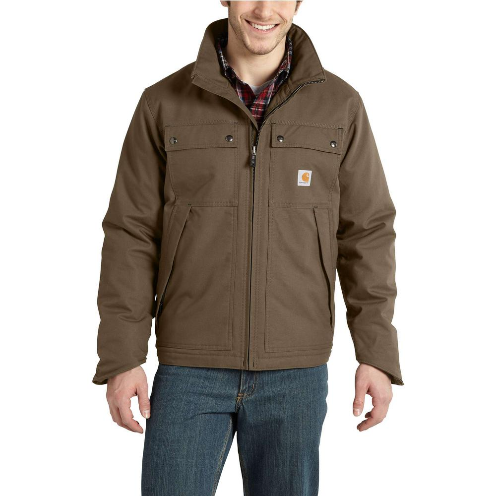 Carhartt Men's Tall Large Canyon Brown Cotton/Polyester Quick Duck Jefferson Traditional Jacket
