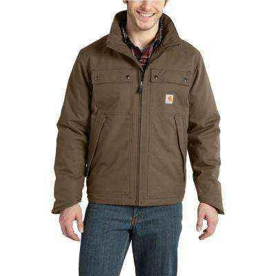 Men's Large Canyon Brown Cotton/Polyester Quick Duck Jefferson Traditional Jacket