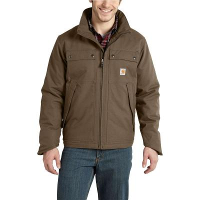 Men's Medium Canyon Brown Cotton/Polyester Quick Duck Jefferson Traditional Jacket