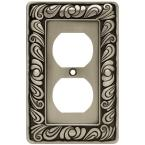 Pewter 1-Gang Duplex Outlet Wall Plate (1-Pack)