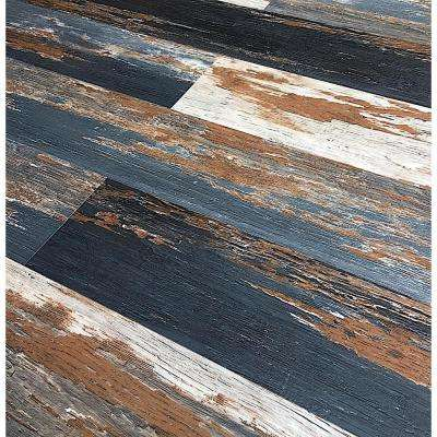 COLORS Floor and Wall DIY Old Black Smoke Aged 6 in. x 36 in. Multi-Tonal Glue Down Luxury Vinyl Plank (30 sq. ft./case)