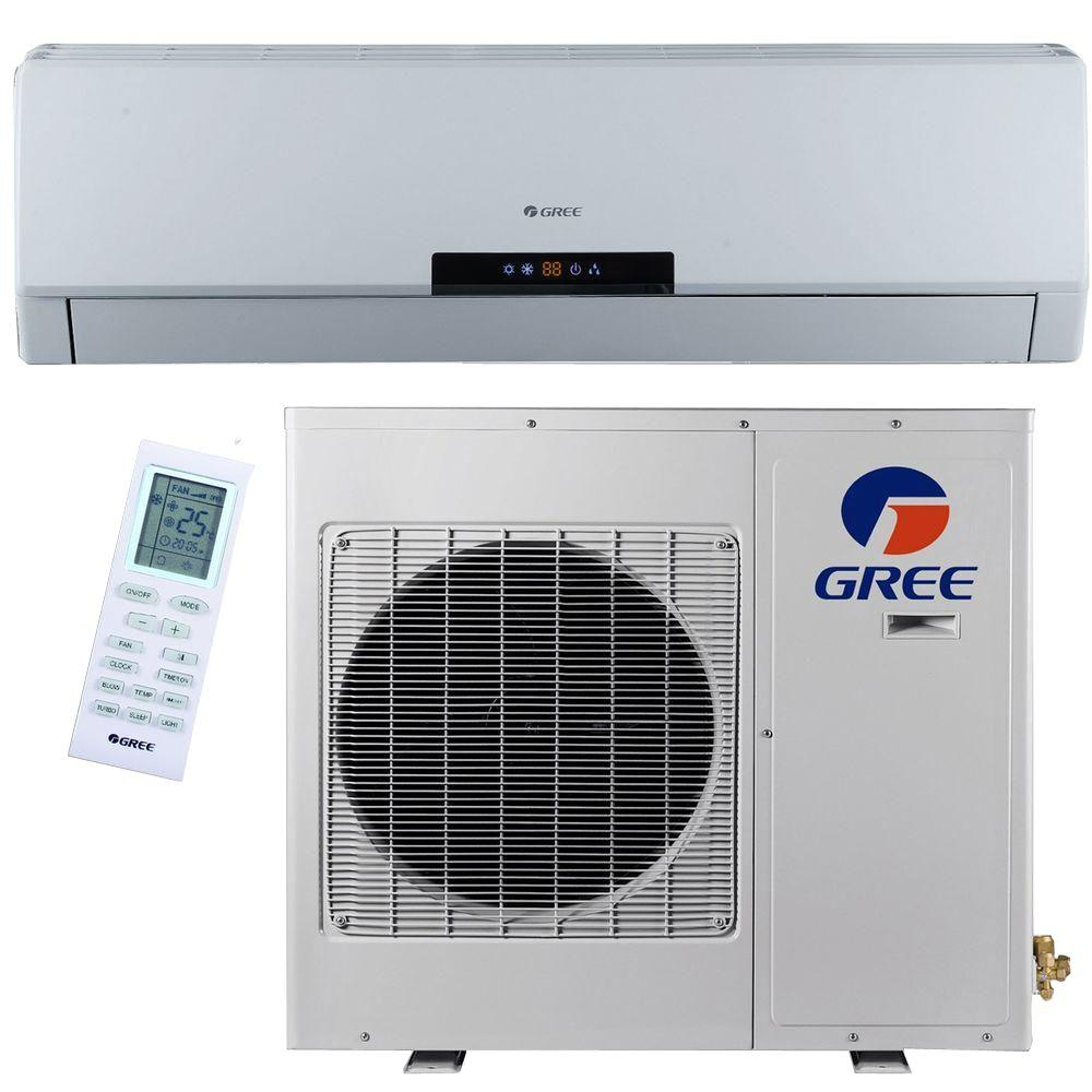 GREE Premium Efficiency 18,000 BTU 1.5 Ton Ductless Mini Split Air  Conditioner With Heat, Inverter And Remote   208 230V/60Hz NEO18HP230V1A    The Home Depot