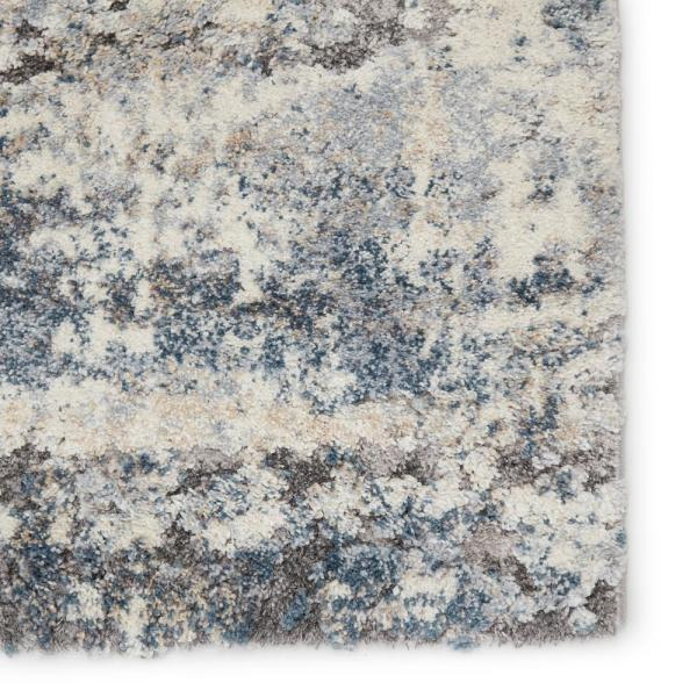 Vibe By Jaipur Living Benton Blue Gray 3 Ft X 10 Ft Abstract Runner Rug Rug148385 The Home Depot