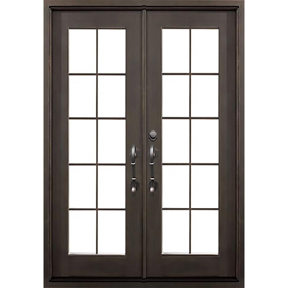 62 in. x 81.5 in. Flat Top Key Largo Dark Bronze