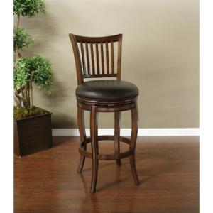Maxwell 30 in. Suede Cushioned Bar Stool