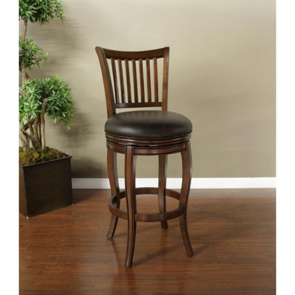 American Heritage Maxwell 30 in. Suede Cushioned Bar Stool 130902SD
