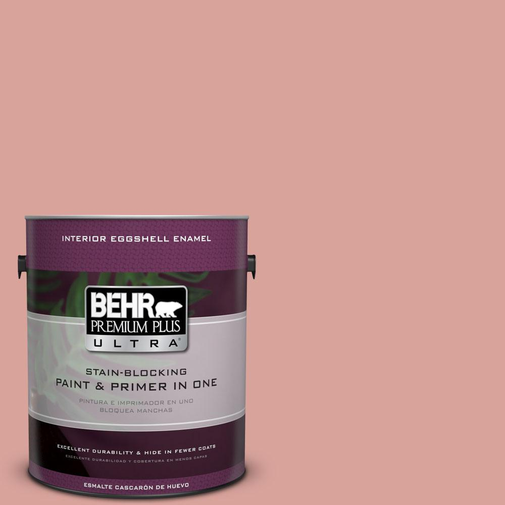 BEHR Premium Plus Ultra 1-gal. #PMD-70 Cottage Rose Eggshell Enamel Interior Paint